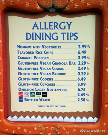 Garden's Kiosk Menu in Animal Kingdom