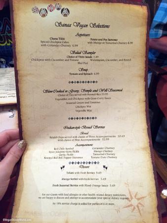 Indian Restaurant Vegan Menu