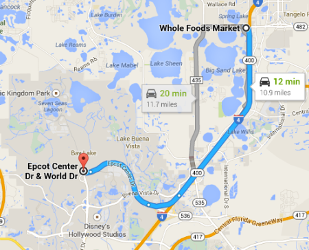 Distance to Whole Foods