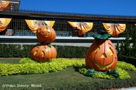 Decorations outside Magic Kingdom
