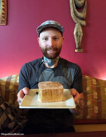 Corey with his Tonga Toast
