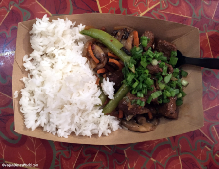 Tamrind Vegan Beef with Jasmine Rice