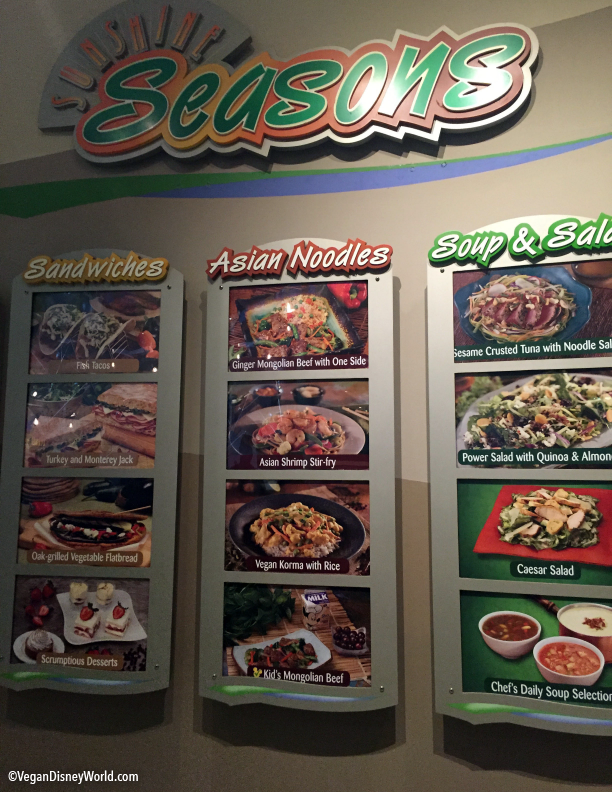 New menu at Sunshine Seasons