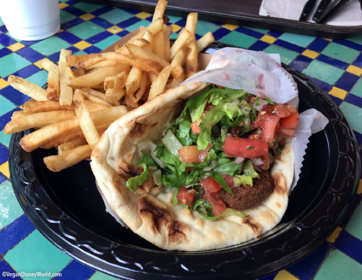 Falafel Wrap with Fries