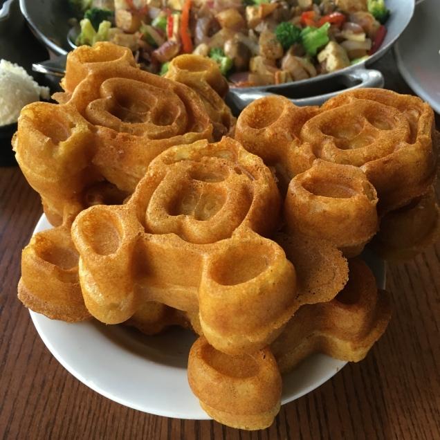 Vegan Mickey Waffles