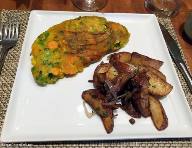 Vegan Omelette and Potatoes