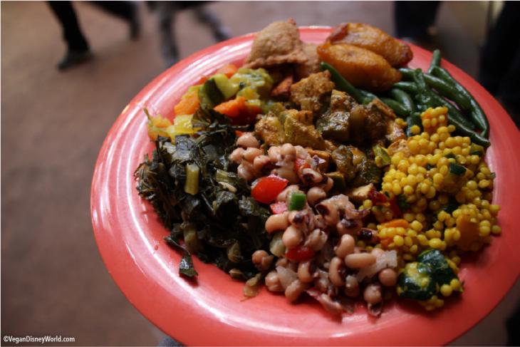 One Full Plate of Vegan Food