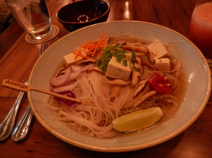 Rice Noodle Bowl with Tofu
