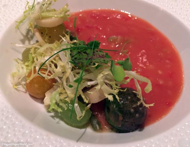 heirloom tomato gazpacho next was the heirloom tomato gazpacho with ...
