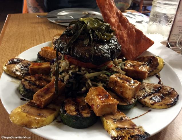 Crispy Tofu with Grilled Vegetables