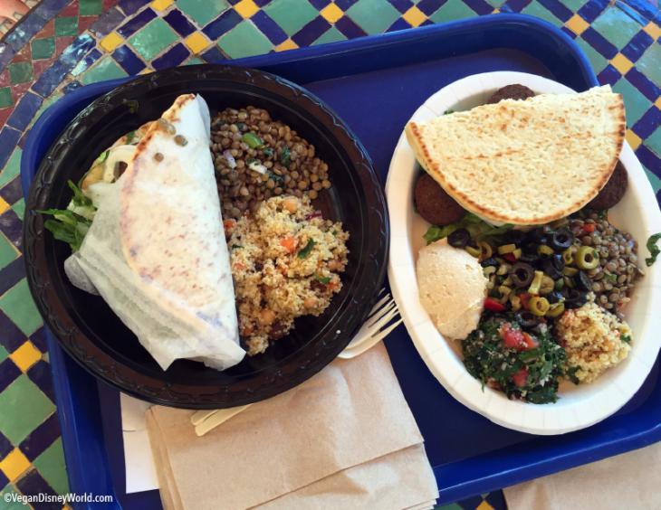 Falafel Wrap and Vegetable Platter
